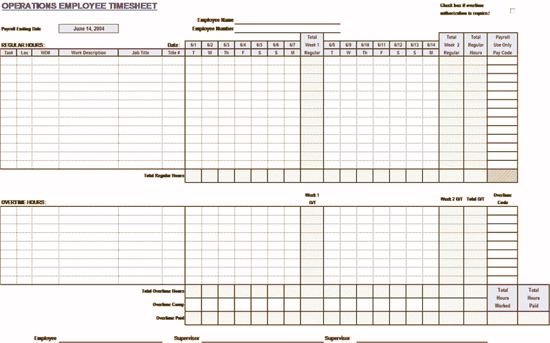 Download 02 Employee Timecard Template