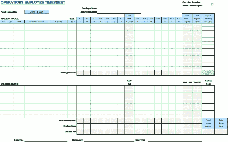 Download 03 Employee Timecard Template