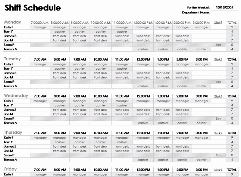 Download 01 Excel Employee Schedule Template