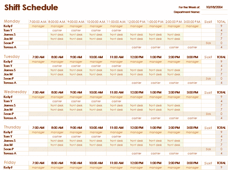 Download 02 Excel Employee Schedule Template