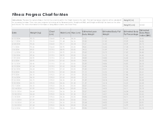 03 Fitness Progress Chart For Men (metric)