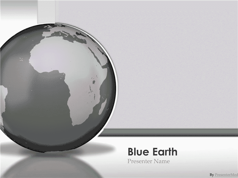 01 Glassy Blue Earth Presentation