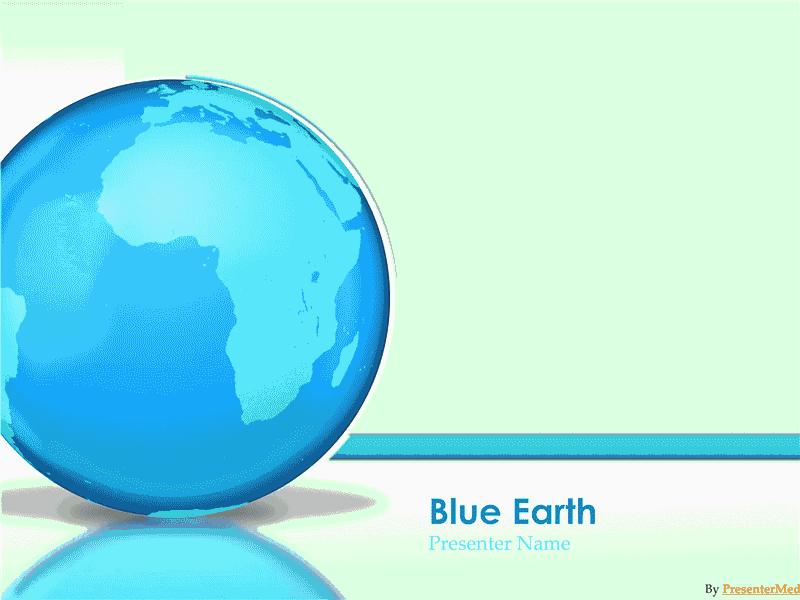03 Glassy Blue Earth Presentation