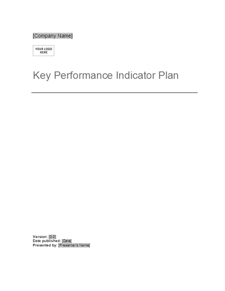 01 Key Performance Indicator Plan