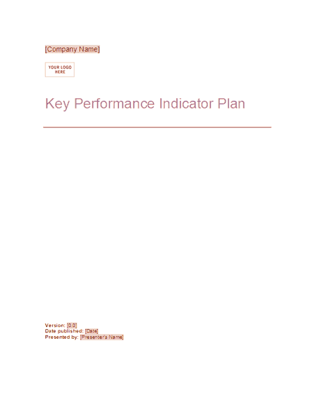 02 Key Performance Indicator Plan