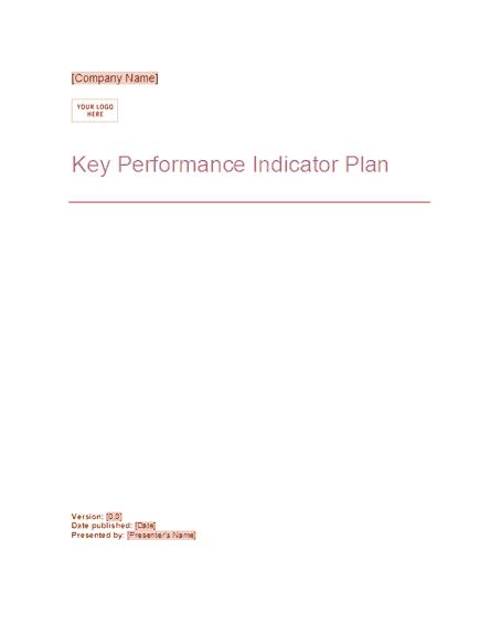 02 Key Performance Indicator Plan