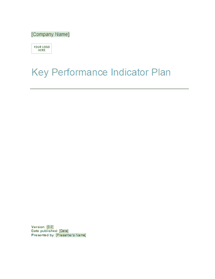 03 Key Performance Indicator Plan