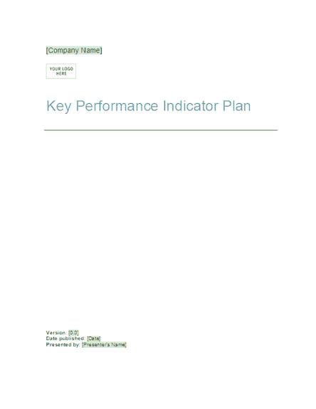 03 Key Performance Indicator Plan