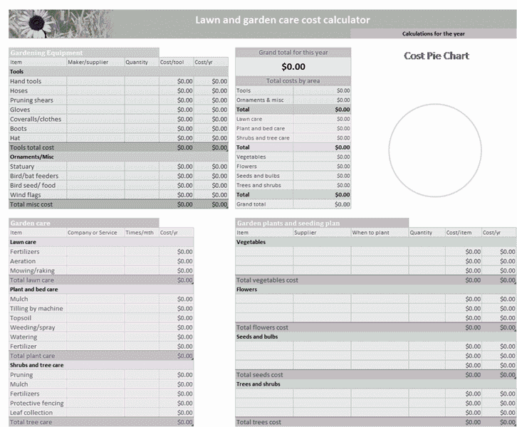 01 Lawn And Garden Budget Form