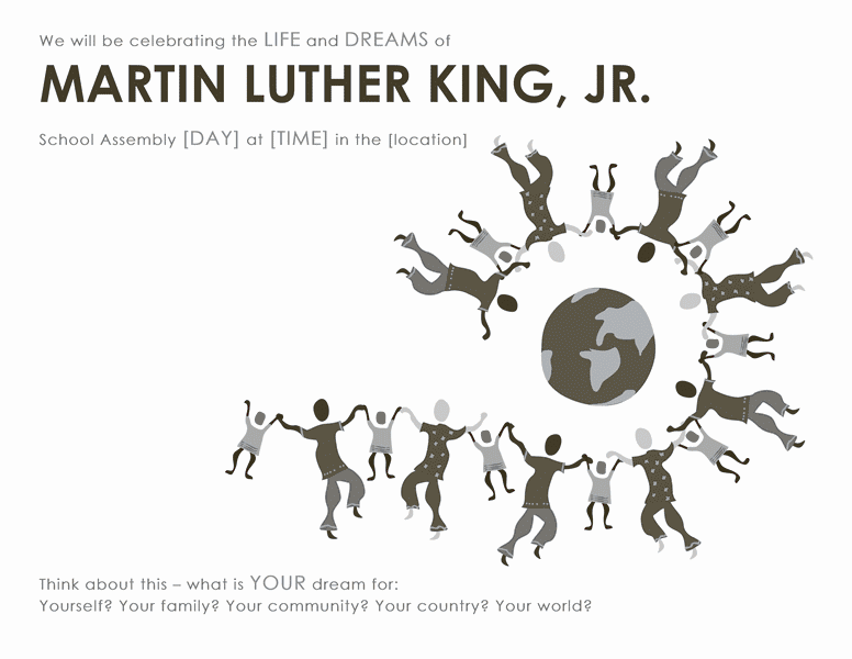 Download Samples-1 Martin Luther King Day Wanted Poster Template