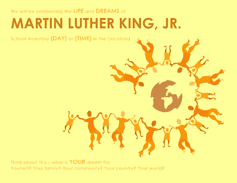 Download Samples-5 Martin Luther King Day Wanted Poster Template