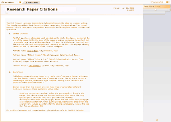 mla research paper citation format