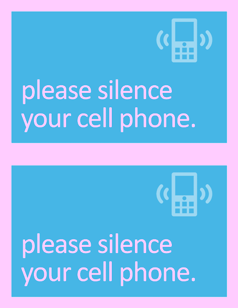 silence cell phone sign