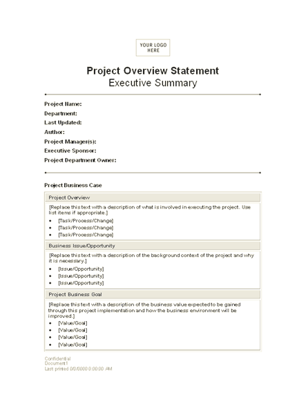 02 Project Overview Statement