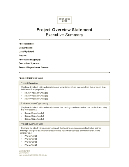 Project overview statement statements templates 03 project overview statement pronofoot35fo Choice Image