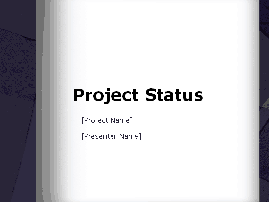 Download 01 Project Status Report