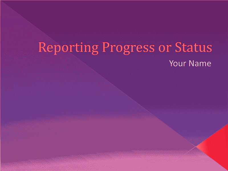 Download 02 Reporting Progress Or Status Presentation