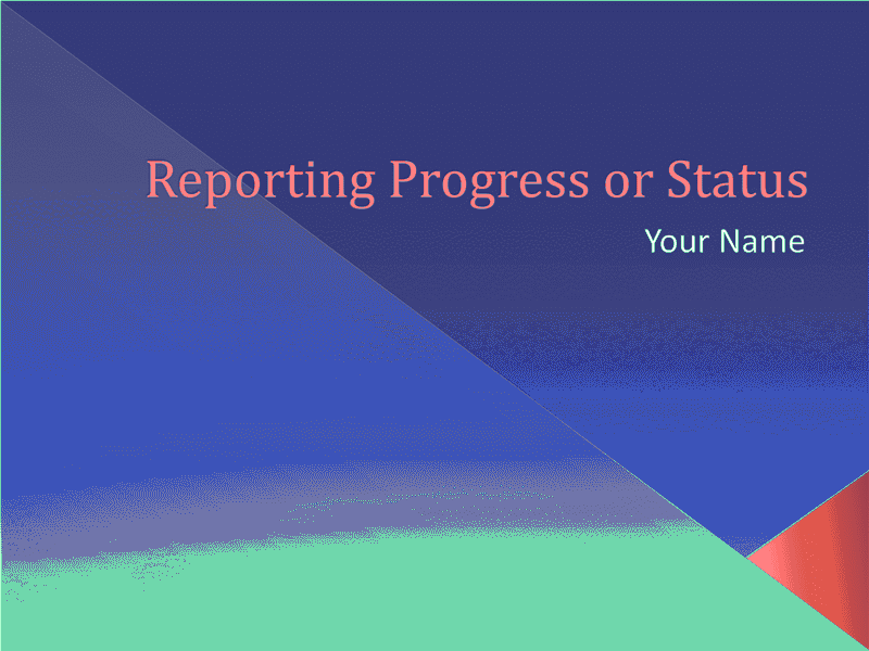 Download 03 Reporting Progress Or Status Presentation