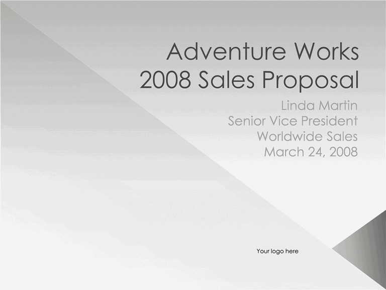 01 Sales Proposal Presentation