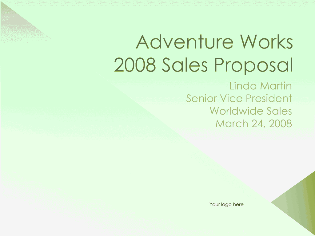 03 Sales Proposal Presentation
