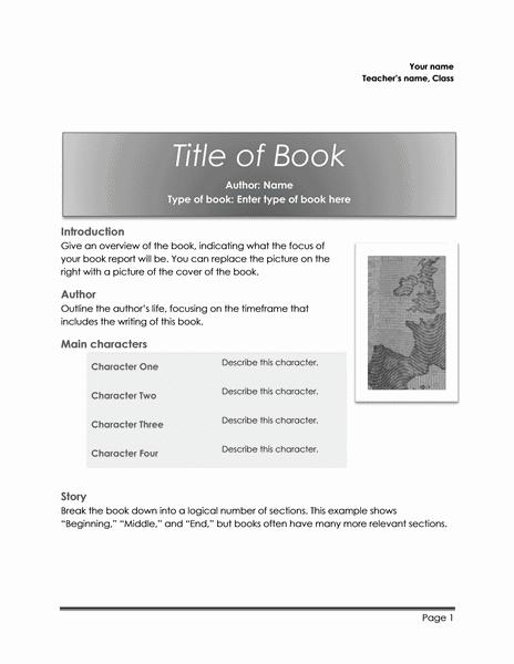 01 School Book Report