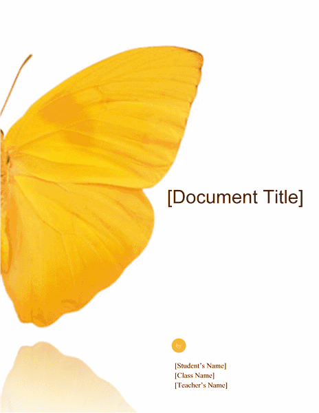 Download 02 School Report (butterfly Design)