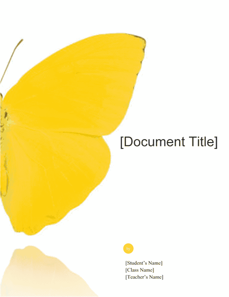 Download 03 School Report (butterfly Design)