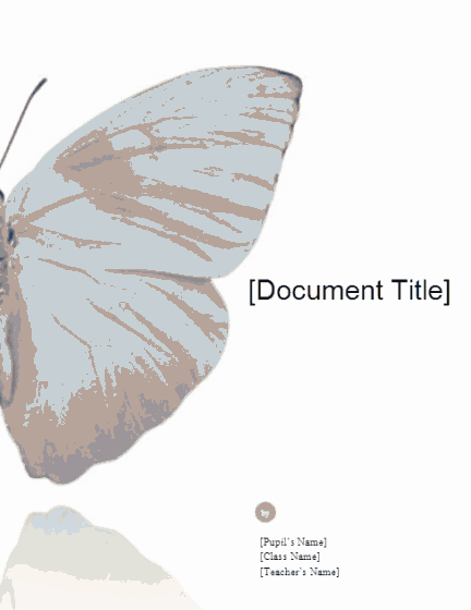 01 School Report (butterfly Design)