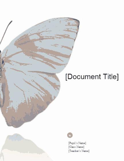 Download 01 School Report (butterfly Design)