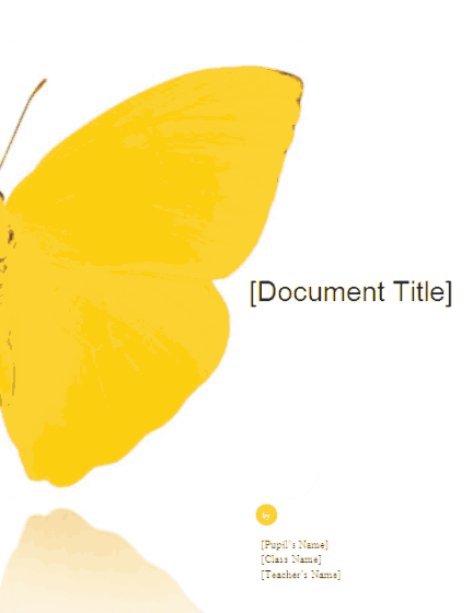03 School Report (butterfly Design)