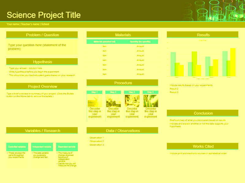 science project templates