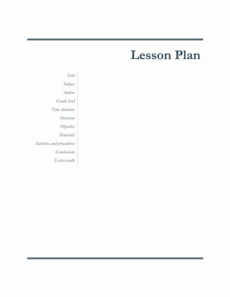 01 Teachers Class Simple Lesson Plan