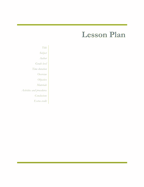 02 Teachers Class Simple Lesson Plan