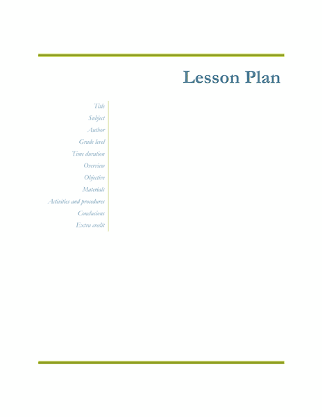 03 Teachers Class Simple Lesson Plan