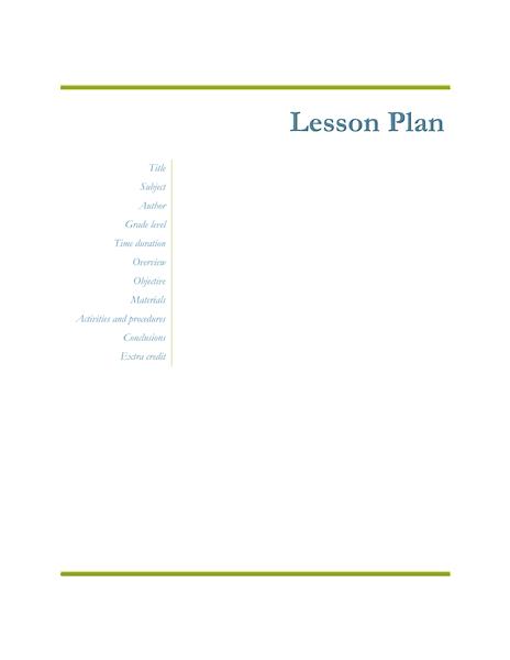 03 Teachers Class Simple Lesson Plan