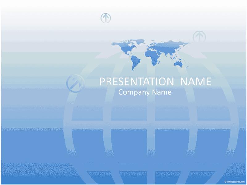 01 Worldwide Business Presentation (blue)